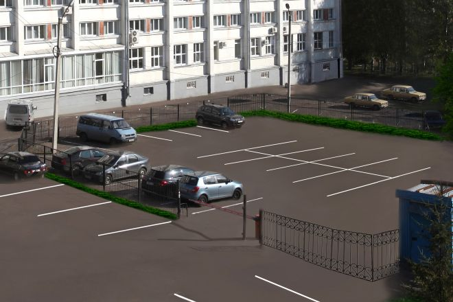 Guarded parking area