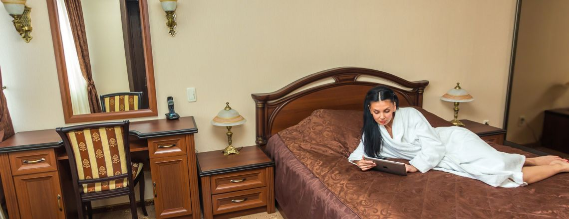 Three-room suite room at the hotel Vyatka Kirov City