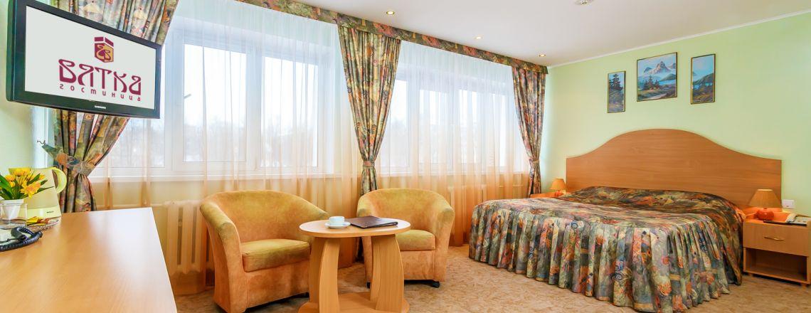 Junior suite-room room at the hotel Vyatka Kirov City