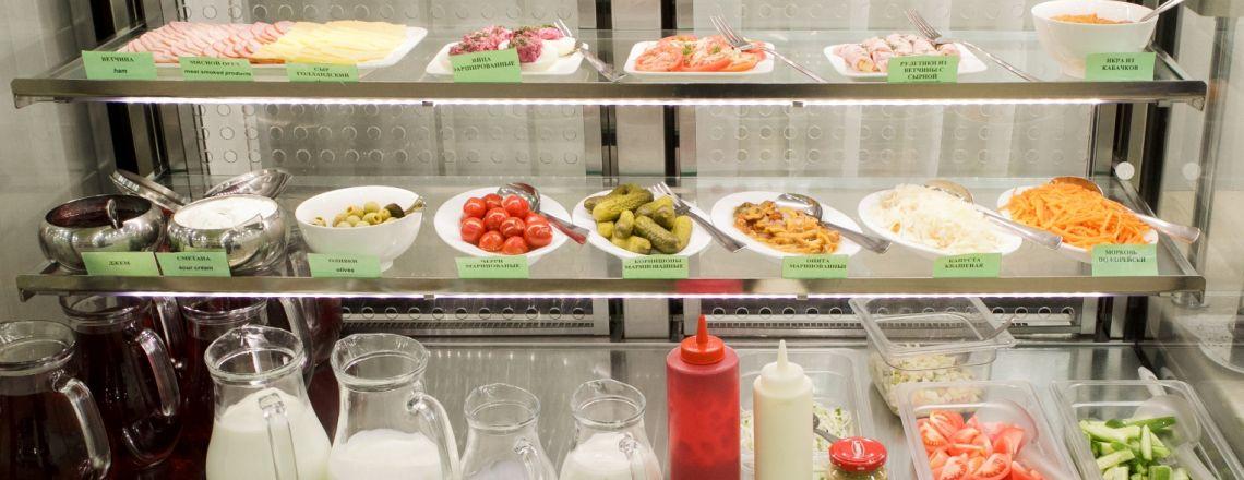 Breakfast, cafe Kirov hotel Vyatka