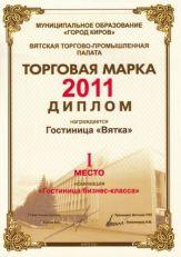 Гостиница «Вятка»: Торговая марка 2011