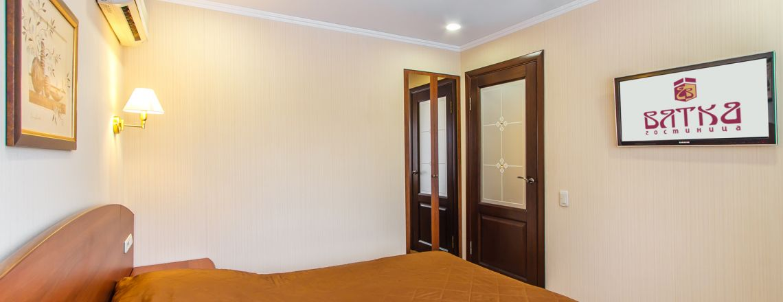 Two-room Junior Suite room at the hotel Vyatka Kirov City