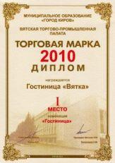 Гостиница «Вятка»: Торговая марка 2010