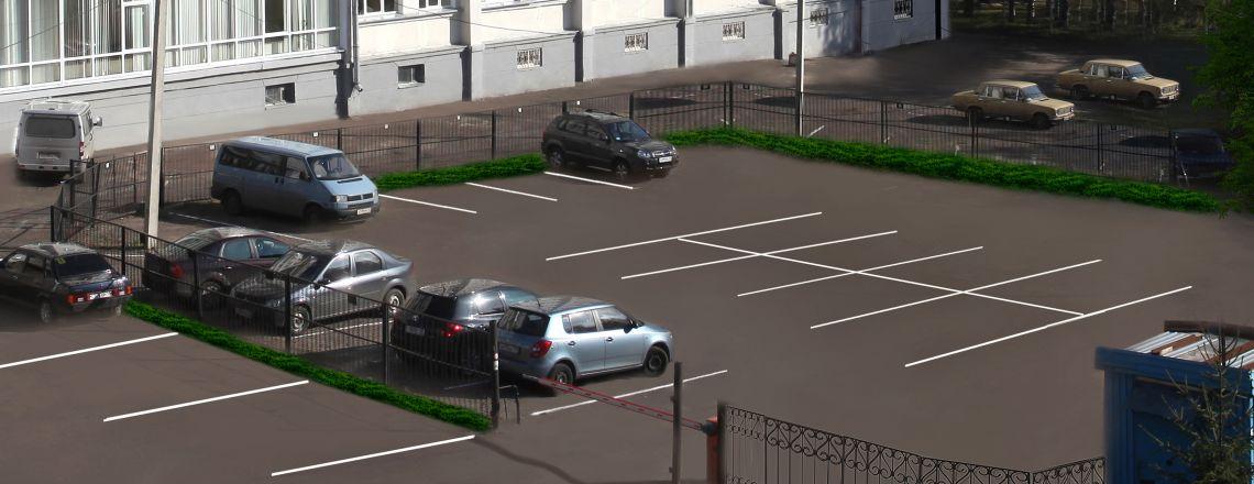 Охраняемая парковка в гостинице «Вятка»