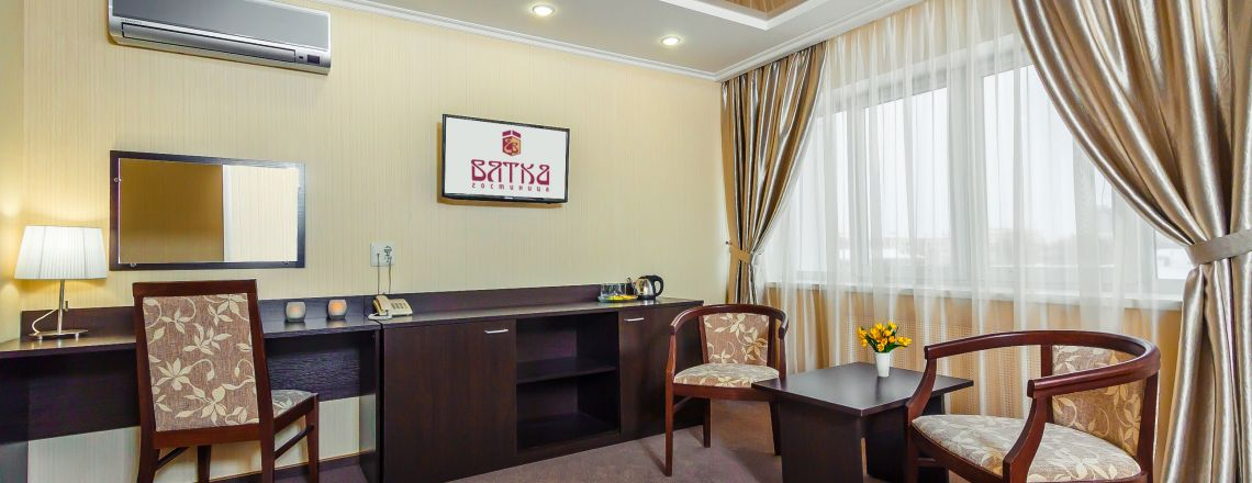 One-room Junior Suite room at the hotel Vyatka Kirov City